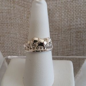 Sterling Silver Elephant Ring Size 6 and 8